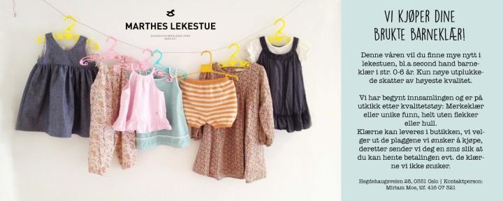 7d5635f2 Pent brukte barneklær hos Marthes Lekestue - Bogstadveien