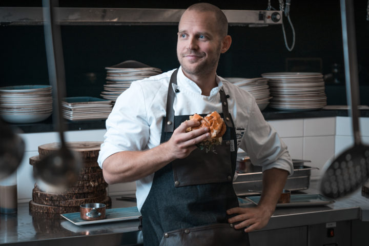 Kjøkkensjef Daniel Andreasson ved 26 North Restaurant & Social Club i Oslo